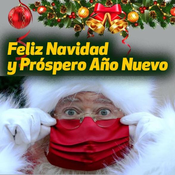 feliz navidad en cuarentena 2021 feliz año coronavirus papá noel con barbijo santa con cubrebocas viejo pascuero con mascarilla covid-19